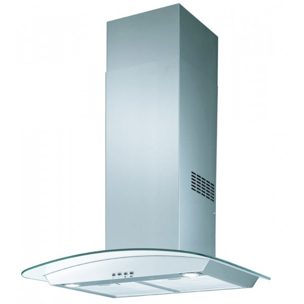 Hotte aspirante verre for Hotte decorative 60 cm inox