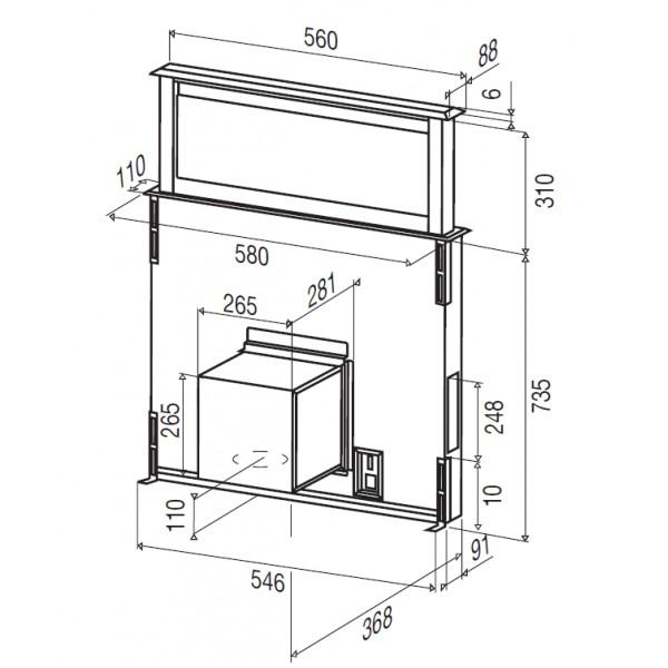 hotte tiroir plan de travail licena 60 broan beldeko. Black Bedroom Furniture Sets. Home Design Ideas